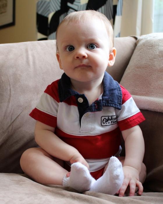 baby boy, 8 months old